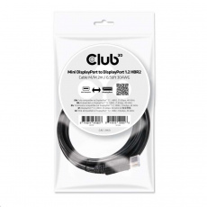 Club3D Kabel Mini DisplayPort na DisplayPort 1.2 4K60Hz UHD obousměrný, (M/M), 2m