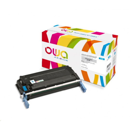 OWA Armor toner pro HP Color Laserjet 4600, 4610, 4650, 8000 Stran, C9721A, modrá/cyan