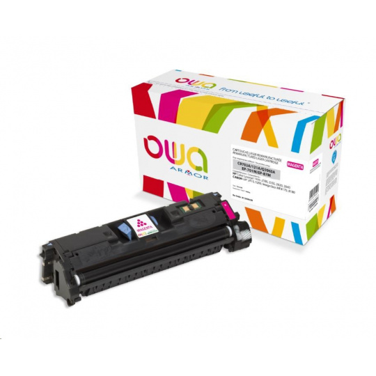 OWA Armor toner pro HP Color Laserjet 1500, 2500, 2550, 2820, 2840, 4000 Stran, C9703A,Q3963A, červená/magenta