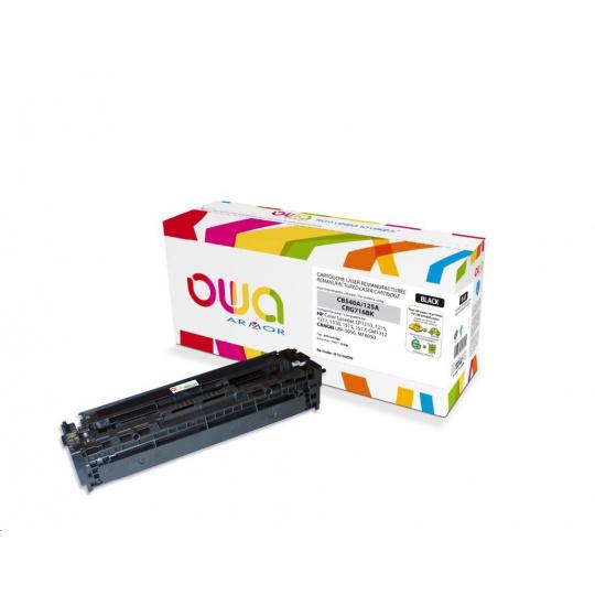 OWA Armor toner pro HP Color Laserjet CP1210, 1215, 1510, 2200 Stran, CB540A, černá/black
