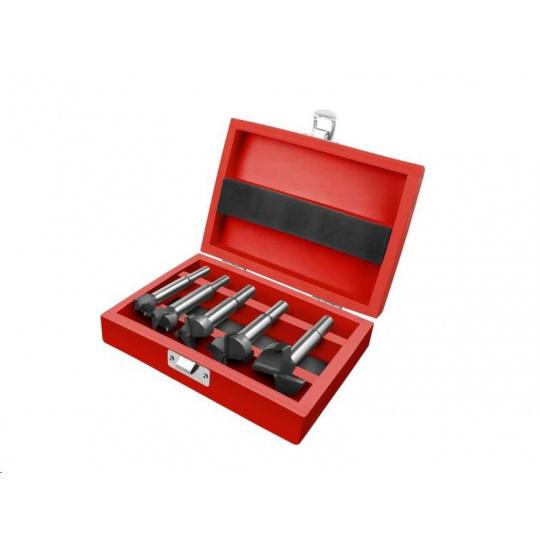 Extol Premium (8802030) do dřeva, sada 5ks s SK plátky, průměry 10-20-25-30-35mm, stopka 8-10mm