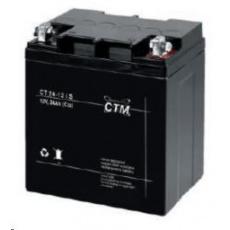 Baterie - CTM CT 12-24s (12V/24Ah - M5), životnost 5let