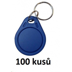 Elatec RFID Unique čip, přívěsek na klíče, 125 kHz, modrý, Standard  100-pack