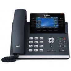 "Yealink SIP-T46U IP telefon, 4,3"" 480x272 barevný, 2x RJ45 10/100/1000, PoE, 16x SIP, 2x USB, bez adaptéru"