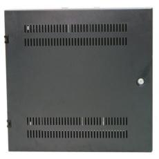 """Nástěnný rozvaděč vertikální 19"""" 2U+4U, hloubka 15cm, černý"""