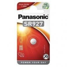 PANASONIC Stříbrooxidové - hodinkové baterie SR-927EL/1B 1,55V (Blistr 1ks)