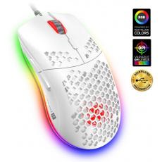 CONNECT IT BATTLE AIR profesionální optická herní myš + SW, 7200 DPI, bílá