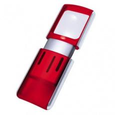 Lupa WEDO s LED světlem červená