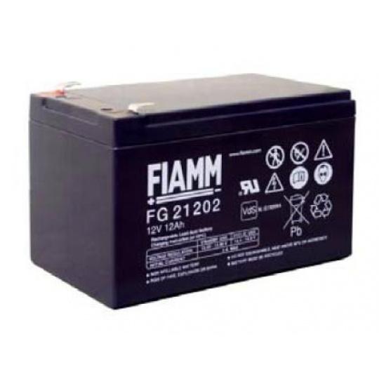 Baterie - Fiamm FG21202 (12V/12,0Ah - Faston 250), životnost 5let