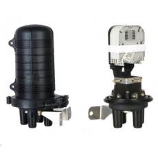 XtendLan Spojka, optická, vodotěsná, zemní/zeď/stožár, 24 vláken 4x6, 3+1 prostup, samosmršťovací, 300x188mm