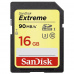 SanDisk SDHC karta 16GB Extreme (90 MB/s Class 10 UHS-I U3)