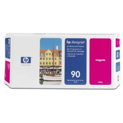 HP 90 Magenta Printhead + Printhead Cleaner, C5056A