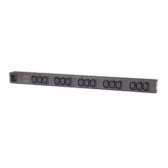 APC Rack PDU, Basic, ZeroU, 16A, 208/230V, (15)C13, IEC-320 C20 2.5m