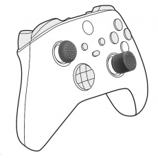 SPEED LINK sada čepiček STIX PRO Controller Cap Set, pro PS5/PS4/Xbox Series X/S, černá