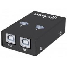 MANHATTAN USB 2.0 přepínač 2:1 (switch, 1 zařízení pro 2 PC)
