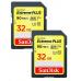 SanDisk SDHC karta 32GB Extreme Plus (90MB/s, V30 UHS-I U3) 2-pack