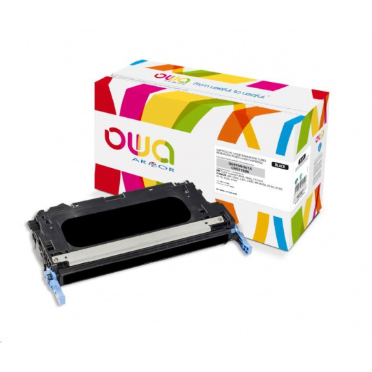 OWA Armor toner pro HP Color Laserjet 3600, 3800, CP3505, 6000 Stran, Q6470A, černá/black