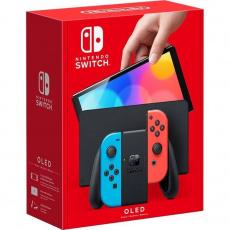 Nintendo Switch (OLED model) neon red&blue set