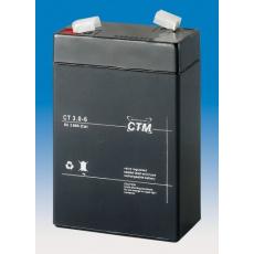 Baterie - CTM CT 6-3 (6V/3Ah - Faston 187), životnost 5let