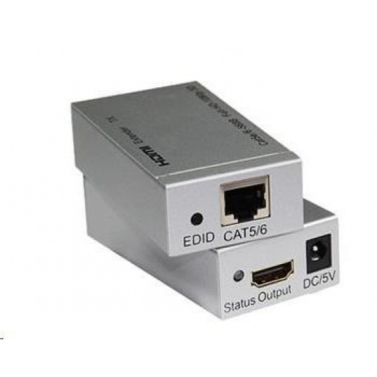 PREMIUMCORD HDMI extender na 60m přes jeden kabel Cat5e/Cat6 POŠKOZEN OBAL