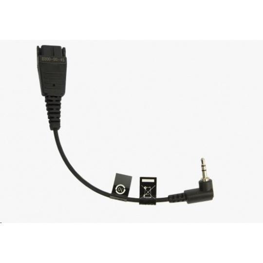 Jabra kabel QD -> 2,5 mm jack, 15 cm
