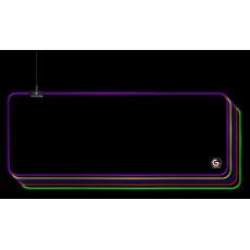 GEMBIRD Podložka pod myš MP-GAMELED-L, USB, RGB podsvícení, herní, 300x800mm, látková, černá