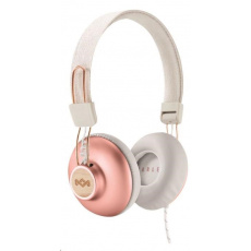 MARLEY Positive Vibration 2.0 - Copper, sluchátka přes hlavu s ovladačem a mikrofonem