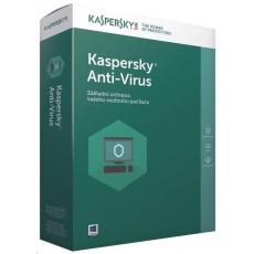 Kaspersky Anti-Virus CZ, 1PC, 1 rok, obnovení licence, elektronicky
