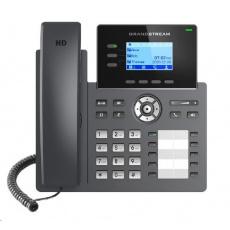 Grandstream GRP2604 [VoIP telefon - 6x SIP účet, HD audio, 10 předvoleb, 2x RJ45 10/100/1000 Mbps]