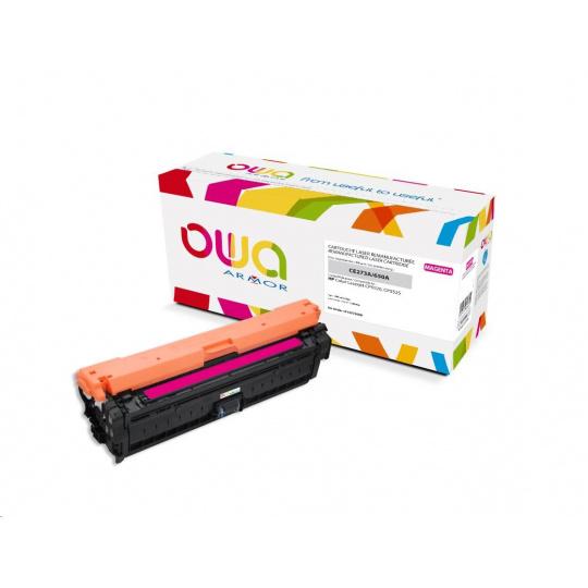 OWA Armor toner pro HP Color Laserjet Ese CP5520, 5525, 15000 Stran, CE273A, červená/magenta