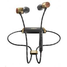 MARLEY Uplift 2 Wireless BT - Brass, bezdrátová sluchátka do uší s ovladačem a mikrofonem