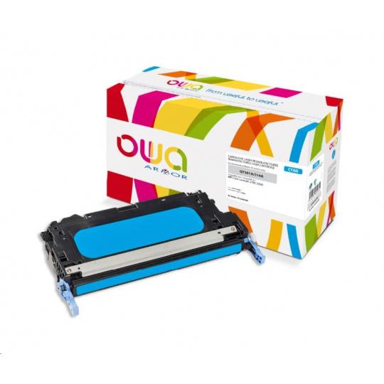 OWA Armor toner pro HP Color Laserjet 2700, 3000, 3500 Stran, Q7561A, modrá/cyan