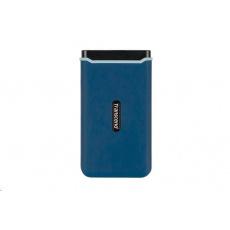 TRANSCEND externí SSD ESD370C 500GB, USB 3.1 Gen.2, modrá