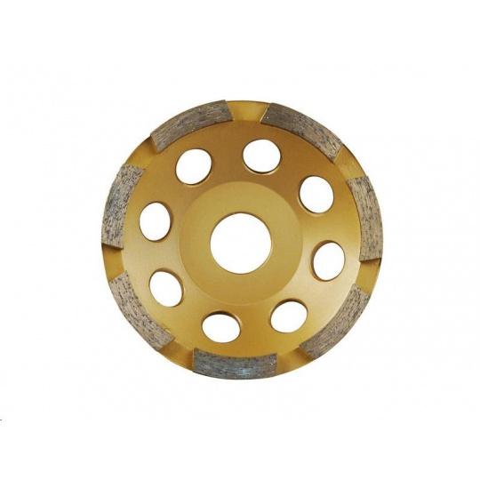 Extol Premium (8803112) kotouč diamantový brusný jednořadý, 125x22,2mm, výška segmentů 5mm, počet segmentů 7