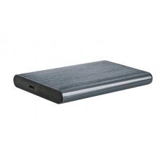 """GEMBIRD externí box pro 2,5"""" disky, USB 3.1, Type-C, broušený hliník, šedá"""