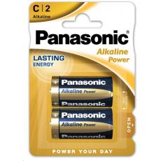 PANASONIC Alkalické baterie Alkaline Power LR14APB/2BP C 1,5V (Blistr 2ks)