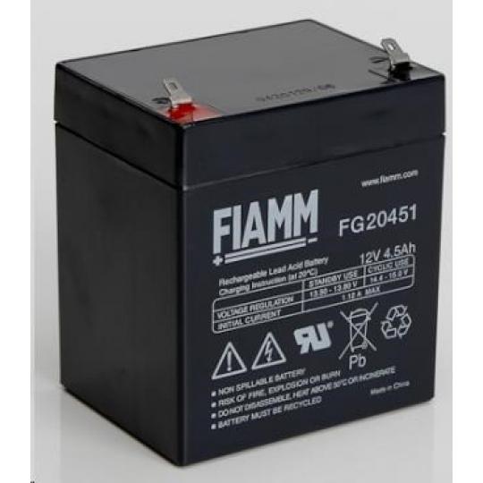 Baterie - Fiamm FG20451 (12V/4,5Ah - Faston 187), životnost 5let