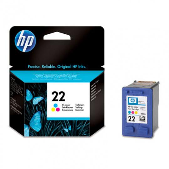 HP 22 Tri-color Ink Cart, 5 ml, C9352AE