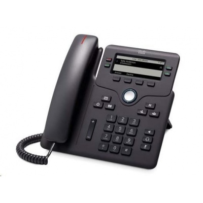 Cisco CP-6851-3PCC-K9=, VoIP telefon, 4line, 2x10/100/1000, displej, PoE, bez adaptéru