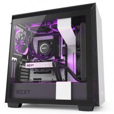 NZXT skříň H710i / ATX / průhledná bočnice / USB 3.0 / USB-C 3.1 / RGB LED / Smart case s intel. funkcemi / bílá