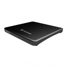 TRANSCEND externí DVD vypalovačka slim, USB 2.0, Black (+CyberLink Media Suite 10)