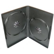 PP box 2DVD čierny slim (9mm) 100 ks/bal