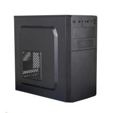 EUROCASE skříň MC X204 EVO black, micro tower, 1x USB 3.0, 2x USB 2.0, bez zdroje