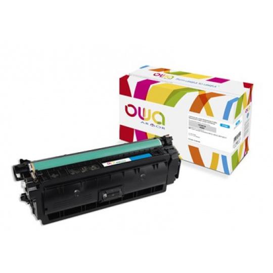 OWA Armor toner pro HP Color Laserjet Ese M552, M553, MFP M577, 9500   Stran, CF361X, modrá/cyan
