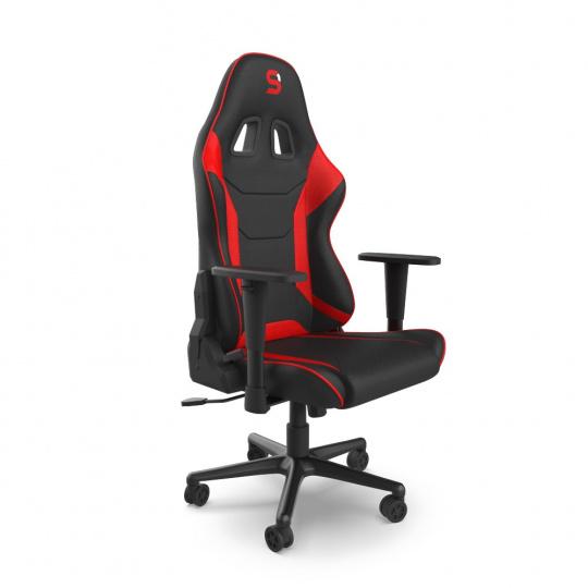 SPC Gear SR300F V2 RD herní židle černo-červená - textilní