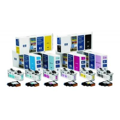 HP 83 Cyan UV Printhead  Printhead Cleaner, C4961A