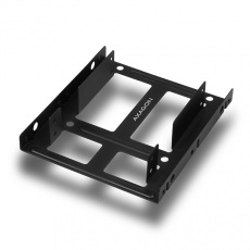 "AXAGON RHD-225, kovový rámeček pro 2x 2.5"" HDD/SSD do 3.5"" pozice, montáž ventilátoru"