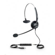 Yealink UH33 náhlavní souprava, konektory 3.5mm jack - USB
