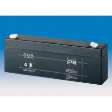 Baterie - CTM CT 12-2,1 (12V/2,3Ah - Faston 187), životnost 5let