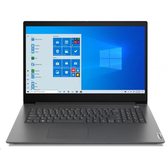 "LENOVO V17-IIL - i7-1065G7@1.3GHz,17.3"" FHD,12GB,512SSD,GeForce MX330 2GB,noDVD,HDMI,čt.pk,cam,W10P,2r carryin,šedá"